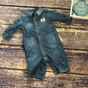 🌀 Ralph Lauren Infant Boy 3m Jean Jumpsuit 🌀